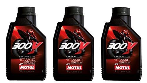 Aceite Competicion Moto - Motul 300V Factory Line Road Racing 10W-40, 3 lts (3x1 lt)