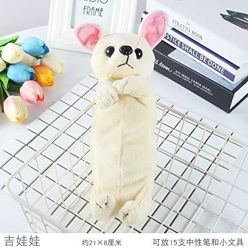 Aohua driedimensionale puppy en hond grote capaciteit pennenzak briefpapier tas voor studenten en kinderen briefpapier geschenken 20cm Chihuahua Rijst Wit