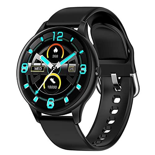 MeterBew1147 Reloj Inteligente para Mujer K21, termómetro Corporal, Pulsera Resistente al Agua, Reloj Inteligente para Hombre, Pulsera con rastreador de Actividad física para teléfono Android iOS