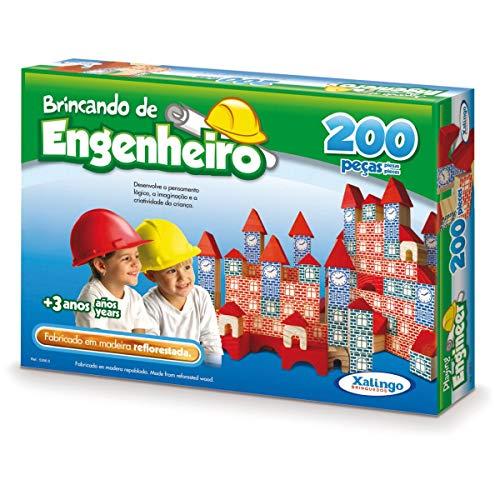 Brincando de Engenheiro 200 Peças Xalingo