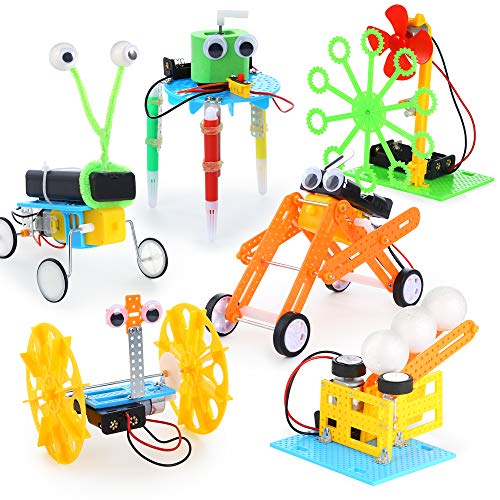 Sntieecr 6 Set Robotic Science Kits, STEM Science Assembly Kit, Educational Robot Learning Kits Set for Kids Science Projects