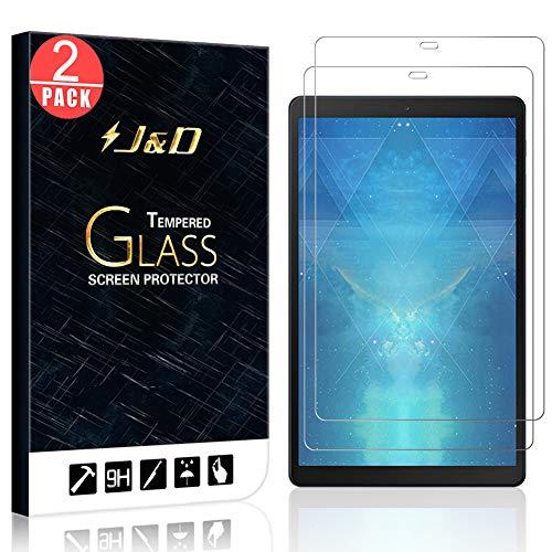 J&D Compatible para Samsung Galaxy Tab A 10.1 inch 2019 Protector de Pantalla, 2-Pack [Vidrio Templado][NO Cobertura Completa] Cristal Templado Protector de Pantalla - [NO Para Galaxy Tab A 10.1 2016]