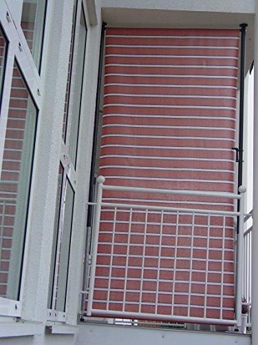 Angerer - Protection visuelle Dralon 2316/9100 pour Balcon - Numéro 9100-120 cm Terracotta