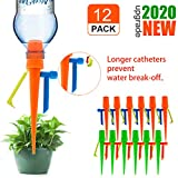 ?New Upgrade?Plant Self Watering Spikes,Universal Self Watering Devices With Slow Release Control Valve Switch Plant System Suitable for All Bottle,Automatic Vacation Drip Irrigation Watering-Non-stop