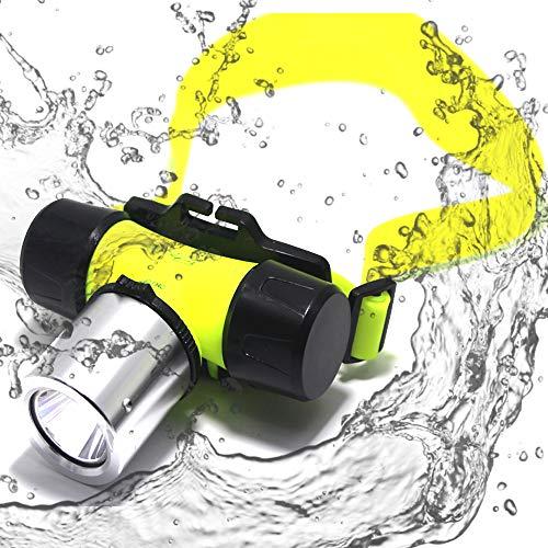 lliang Lampe Frontale 6800Lumen XML T6 LED 3 Mode Waterproof Scuba Diving Headlamp Underwater Headlight Light '18650 Batterie/Chargeur-Box