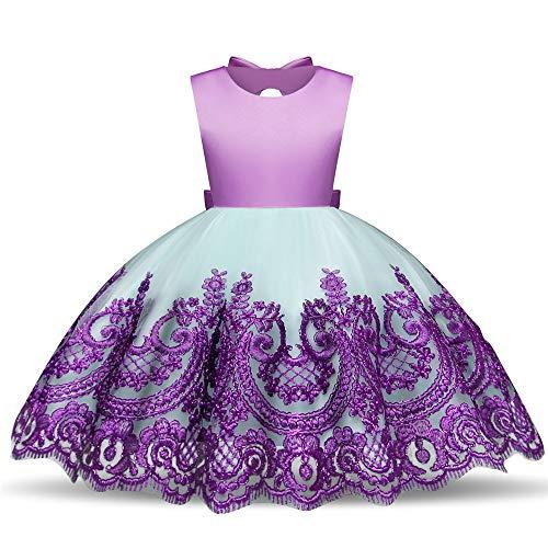 Babymouwhouder geborduurd kant verjaardag bruiloft schoonheid jurk boog prinses bloemenjurk tulle doop jurk baljurk meisjes jurk kinderen