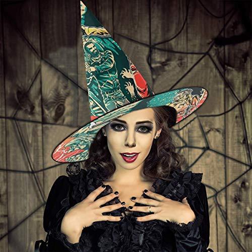 AISFGBJ - Sombrero de Bruja de Rick y Negan Walking Dead, Unisex, Disfraz para Vacaciones, Halloween, Navidad, Carnaval, Fiesta