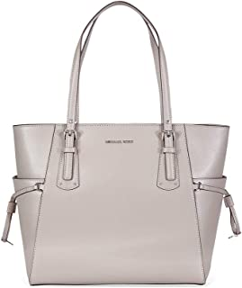 8e90652582160 MICHAEL Michael Kors Voyager East West Signature Tote (Pearl Grey Silver)