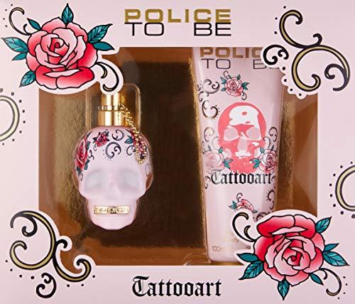 Police Police to be tattooart for woman set 40 ml eau de toilette bodylotion 100 ml