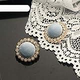 Botones decorativos de tela de diamantes de imitación de metal dorado para ropa, artesanía, costura, botones, costura, bricolaje, abrigo para mujer, vestido 6pcs-3,21mm 6pieces