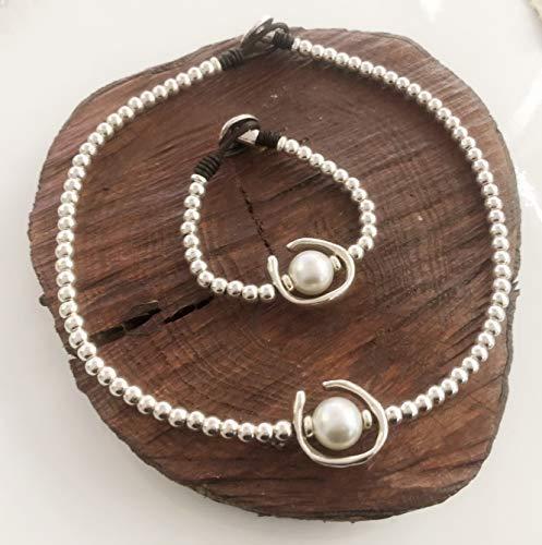 Conjunto collar y pulsera en zamak estilo unode50