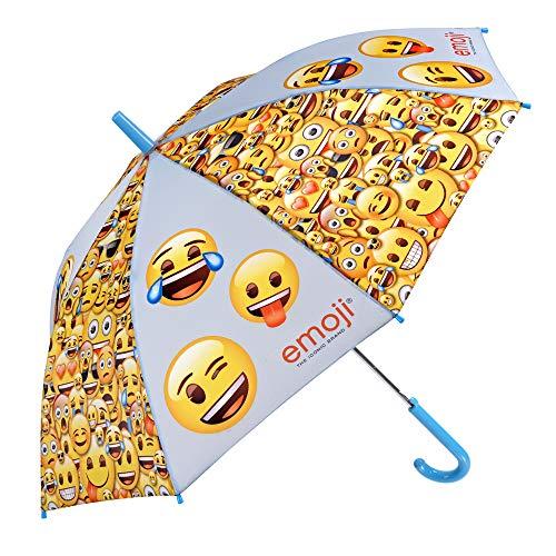 Paraguas amarillo con emojis para Niños y Niñas