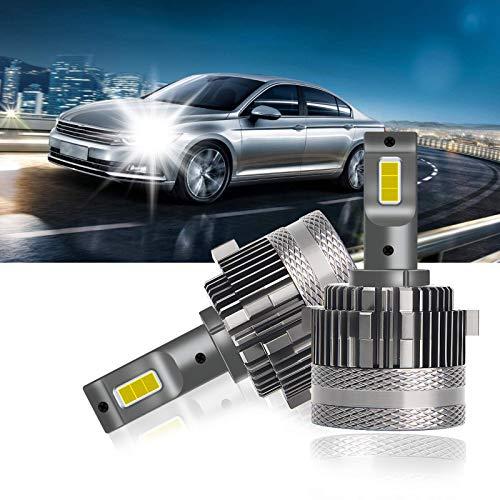OPPULITE Bombilla H7 LED Faros Delanteros Coches, 18000LM 60W 12V 6500K luz Blanca,100% Canbus Prueba Errores, Kit de Conversión Led, 2 Lámparas LED