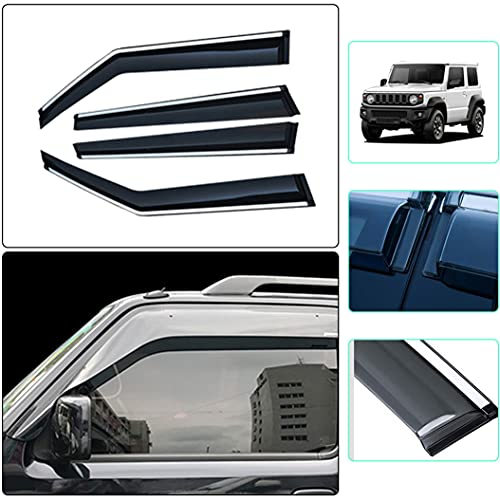Handao-US Auto Windabweiser für Suzuki JIMNY 2007-2019 All Weather Wasserdicht Beschlagfrei Beschattung Autofenster 4 Stück Set