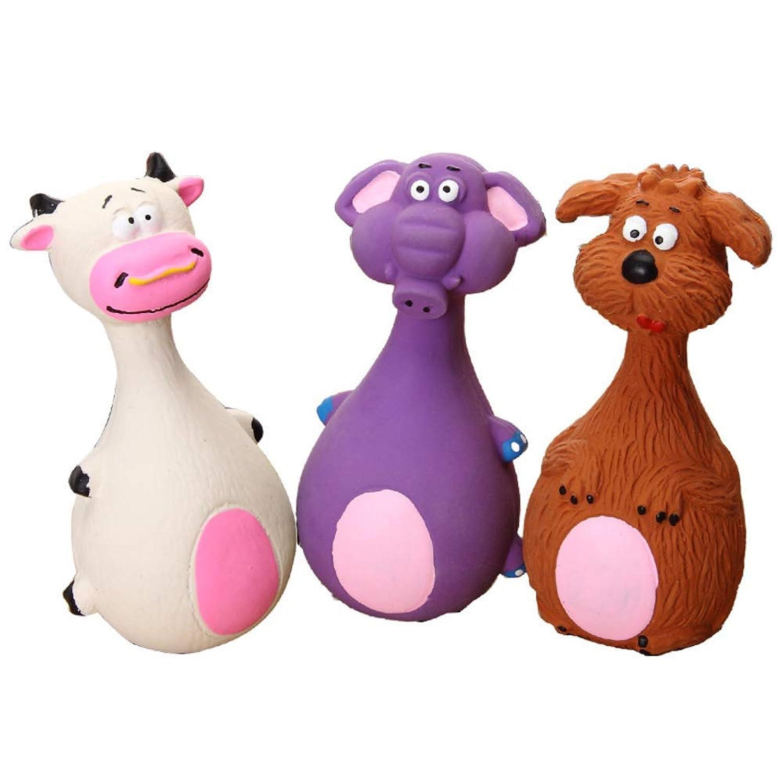 順番パッドモノグラフペット用品犬のおもちゃ犬の鳴き声ラテックスかわいい漫画のおもちゃ歯耐性歯ラテックスおもちゃきしむおもちゃ