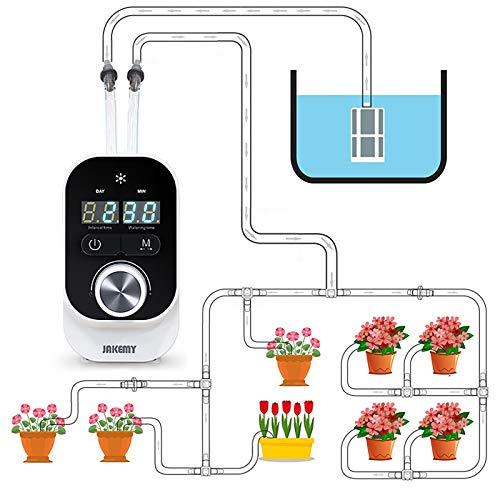 GreeSuit Automatisches Tropfbewässerungsset, Big Water Zimmerpflanzen mit Mini-Größe, Selbstbewässerungssystem mit programmierbarem Intervall-Timer 1-23 Stunden 1-30 Tage für 15 Topfpflanzen