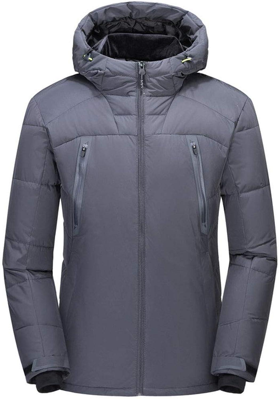 Hyvaluable Boys Jackets Men Outdoor Warm Winter Thick Jacket Plus Hooded Coat Jacket