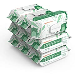 9 flip-top packs of 90 Amazon Elements Clean and Fresh Scent baby wipes Lightly scented Pediatrician tested Made from naturally-derived ingredients Made with aloe and vitamin E Made with 100% purified water Free of dyes, parabens, phthalates, alcohol...