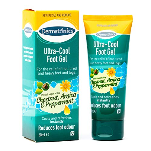 Dermatonics Ultra Cool Foot Gel for Relief of Hot Legs and Feet, 60 ml