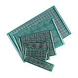 TeOhk 6Pcs Placa PCB de Doble Cara Kit de Placa de Circuito de PCB Prototipo Universal para Soldadura DIY con 6 TamañOs Surtidos