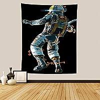 宇宙飛行士のタペストリー北欧の吊り布の家の装飾の座っている毛布-FGT10199垂直バージョン_150 * 100cm