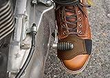 Denco Protector de botas de piel pura para motocicleta, color marrón (marrón)