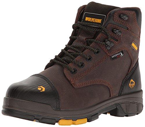 WOLVERINE Men's Blade LX Waterproof 6' Comp Toe Met Guard Work Boot, Brown, 11 M US
