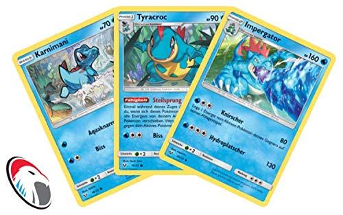 Karnimani, Tyracroc & Impergator Set Pokémon Schimmernde Legenden Sammelkarte - Deutsch - Cardicuno