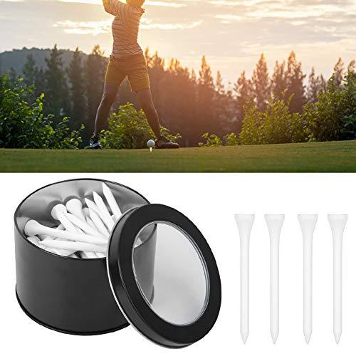 De Madera Golf tee, Planchar Caja 54mm 50 pcs Golf Tees Columpio Entrenador Manojo con Heteropatía