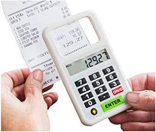 Handheld Magnifier with Light for Reading Small Print on Menu/Bill, with Calculating Device to Figure Tip and Split Bill in Seconds-All in One
