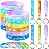 42 Pieces Inspirational Rubber Bracelets...