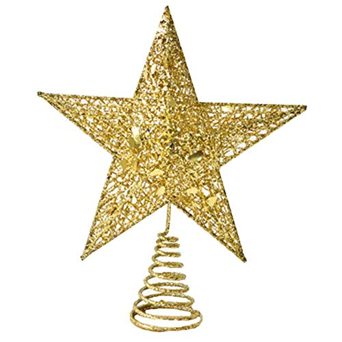 Lankater 1pc Tree Star Tree Topper Holiday Items for Tree Hanging Decor and Home House Festive Decoration
