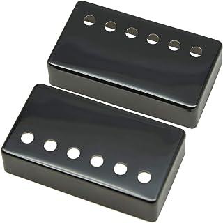 KAISH Set of 2 Humbucker Guitar Pickup Cover Brass Humbucker Pickup Covers 49.2mm/52mm Pole Spacing Fits most Gibson Les P...