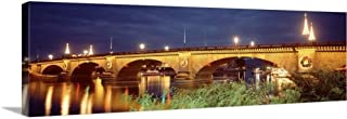 Solid-Faced Canvas Print Wall Art Print Entitled Arizona, Lake Havasu City, Christmas London Bridge 36