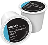 Amazon Brand - 100 Ct. Solimo Decaf Light Roast Coffee Pods, Breakfast Blend, Compatible with Keurig 2.0 K-Cup Brewers