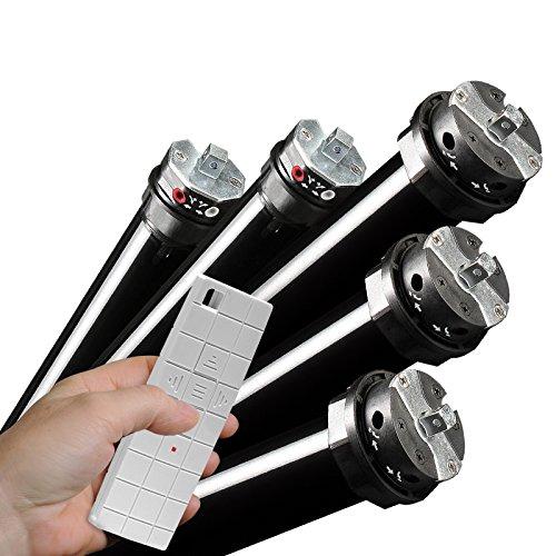 NOBILY *** Funk/Maxi-Rolladenmotor PR5 10/15-60 mit mechanischen Endabschaltern (Zugkraft 10Nm/25kg) für 60mm Achkantwelle (SW60) Rolladenantrieb Rohrmotor Rollladenmotor für Rolladen