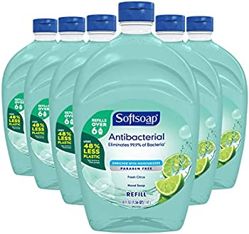 6-Pack Softsoap Antibacterial Liquid Hand Soap Refill 50 oz. Bottle
