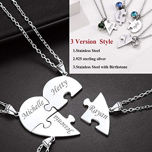 4 piece friendship necklace _image1