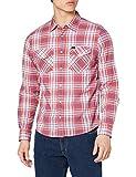 Lee Clean Western Shirt Camisa, Aurora Red, L para Hombre