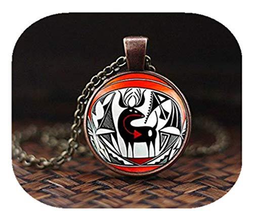 Collar indio nativo americano, colgante de arte de ciervos indio americano, joyería suroeste, collar étnico tribal bohemio, collar para hombre, un hermoso regalo.