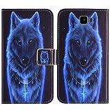 TienJueShi Wolf Flip Book Stand Brieftasche Leder Tasche Schütz Hülle Handy Handy Hülle Für Archos 55 Cobalt Plus Abdeckung Fall Wallet Cover Etüi