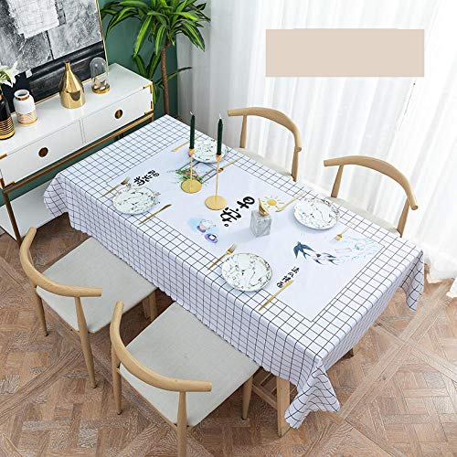 Traann plastic tafelkleden afvegen, vierkant wipe Clean tafelkleed vinyl PVC marmering 135*200 B