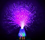 ice fiber optic mood novelty lamps lighting glacier with color-changing crystals base