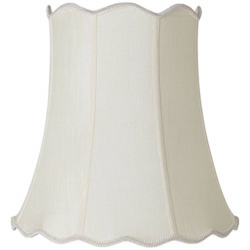 Imperial Creme Scallop Bell Lamp Shade 12x18x18 (Spider) - Imperial Shade
