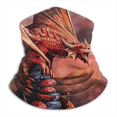 Merle House Nackenwärmer Gamasche Fire Dragon Weiche Mikrofaser Kopfbedeckung Gesicht Schal Maske Für den Winter Kaltes Wetter Warm halten