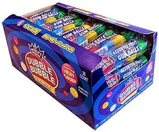 Dubble Bubble Gum Balls, Assorted Fruit Flavor, 36 - .65oz tubes