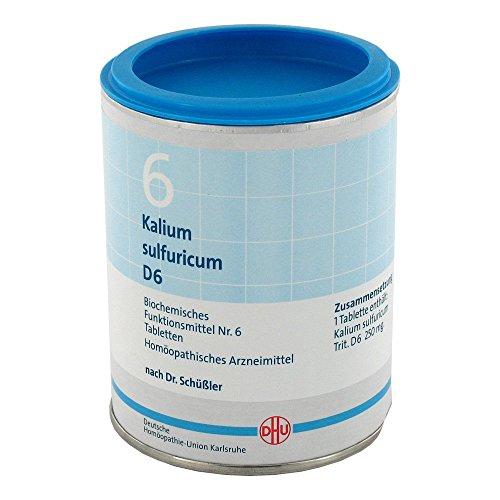 DHU Schüßler-Salz Nr. 6 Kalium sulfuricum D6 Tabletten, 1000 St. Tabletten