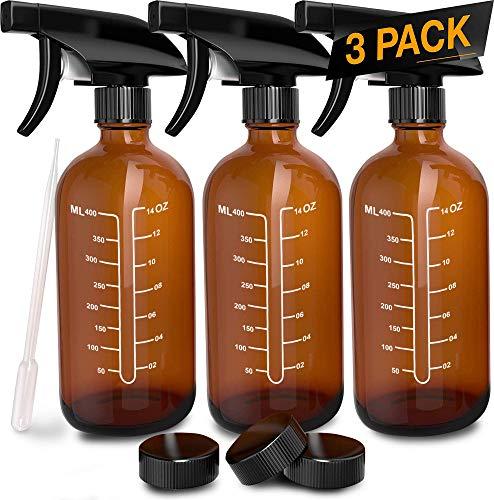 Refillable Empty Amber Glass Spray Bottles