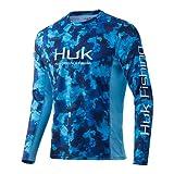 HUK Men's Icon X Camo Long Sleeve Performance Fishing Shirt, San Sal-Refraction, X-Large