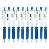 ゼブラ ジェルボールペン サラサマークオン 0.4 青 10本 B-JJS77-BL
